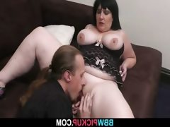 Big lady rides his stiff rod