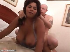 Nasty fat bitch gets her horny cunt