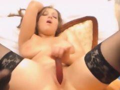 Cock Sucking Plumper In Lingerie