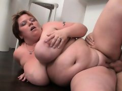 Fat bitch gives deep throat