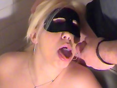 Sensual blonde gets a cum load over..