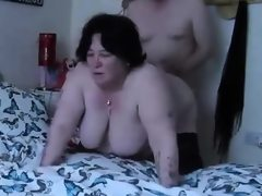 Fucking bbw doggy swinging tits