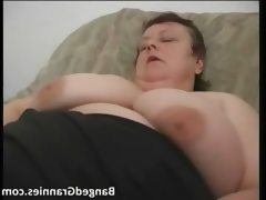 Fat milf slut with big boobs gets horny