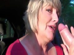 Busty mature mouth fucking dick