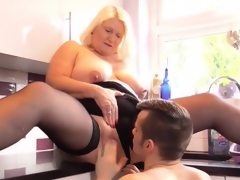 Agedlove nice blonde granny is fucked..