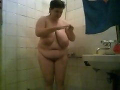 Bbw mature amateur shower 1
