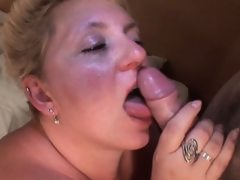 Chesty mature licks and sucks a tasty..