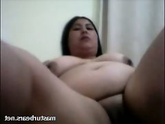 Chinese bbw lili 46 in homemade solo