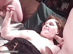 Chubby mature threesome fun