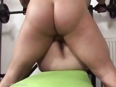 Chunky bbw slut banged with no respect..