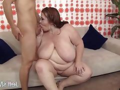Randy bbw rides this hard cock
