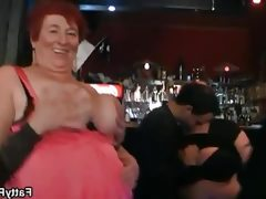 Horny plumpers' sexy bar games