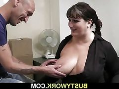 Bbw takes it hard from behind by co..