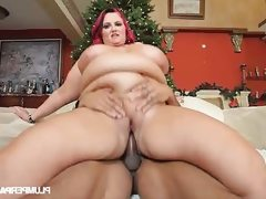 Big belly bbw sara star takes some bbc