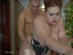 Russian bbw milf squirting anal