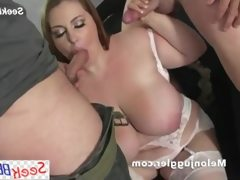 Young wife fucks two guys for fun