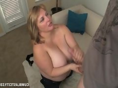 Huge-titted blonde gets blasted