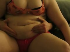 Bbw - boyfriend playing with my belly