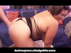 Latina bbw with big tits n stockings..