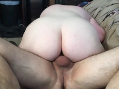 Riding older cock while hubby records
