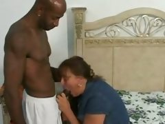 Dirty fat wife fucks big black cock..