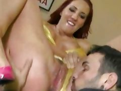 Wide hips office slut licked and she..