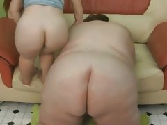 Lucky guy fucks the ssbbw and the midget