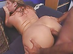 Cute chubby lady banged from behind
