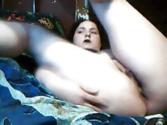 Bbw goth plays on cam