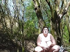 Nude in a yorkshire wood