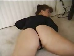 Chubby wife showing her big ass