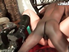 Chubby german housewife cuckold with a..