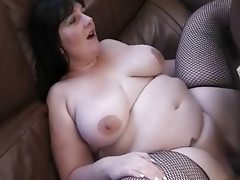 Raven-haired english bbw gets ir bbc